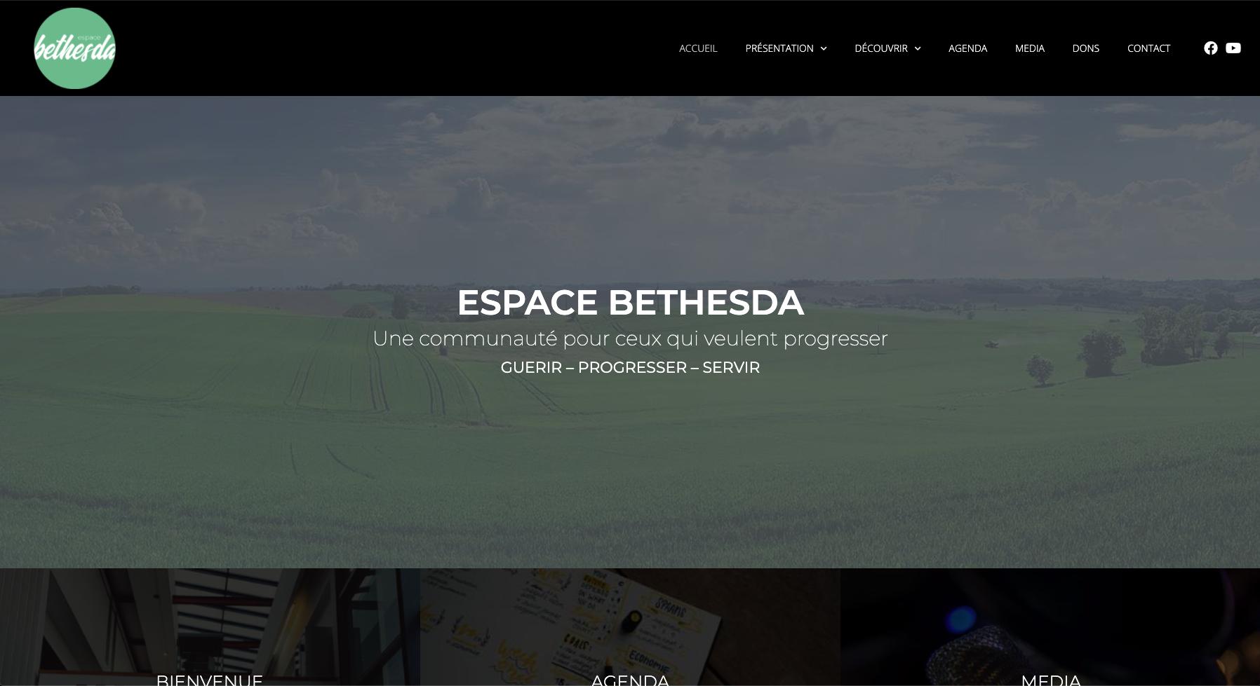 Site internet de l'Espace Bethesda